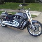 Taking delivery of my 2014 Harley V-Rod Muscle<br />It\'s a fun bike to ride