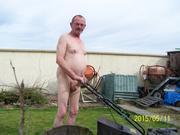 naked in my garden