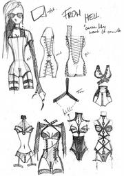 designing FROM HELL Collection / 2011. So now u see why I do not connect very often to this site :D This is one of many sketches before the final suits.