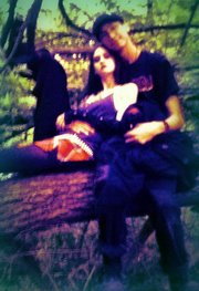 Mike and I relaxing in a tree after are all day into late at night nature walk. Jun of 2011