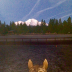 Red & I at Iron Horse, Mt. Shasta.