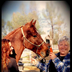 Red, myself and my Aunt Bunny ~ she\'s a horse lover, too.